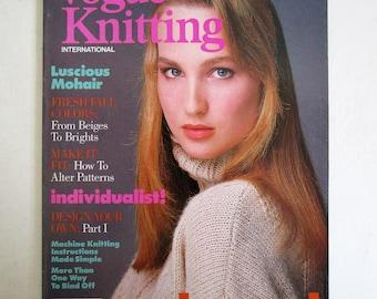 Vintage 1980s Magazine Vogue Knitting Intl Fall-Winter 1987 Craft DIY Vintage 80s Magazine