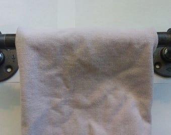 Towel rack black pipe towel bar industrial steampunk bathroom pipe towel holder bathroom decor industrial decor industrial pipe rustic