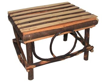 All Hickory Foot Stool