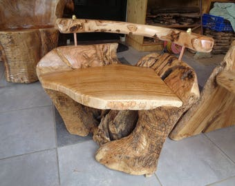Rustic furniture  Olive wood chair   log/root -- SOLD  -- (similar available )