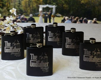 Godfather Wedding Flask for Men - 7 Personalized Groomsman Gift, Godfather Groomsmen Flasks, Groomsman Gift, Best Man Gift, Wedding Gift