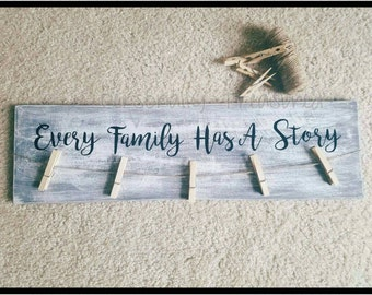Family Sign - Every Family Has a Story Sign - Story Sign - Family Story Sign
