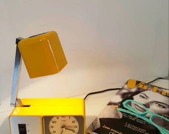 Alarm clock with lampette lamp 1970s West Germany space age