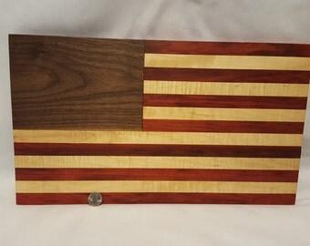 American Flag, Wood