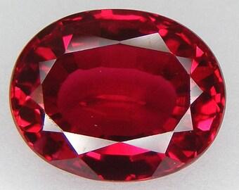 18.94 CT Loose Ruby Oval 17 x 14 mm Pigeon Blood Red Ruby Lab corundum Loose Gemstone