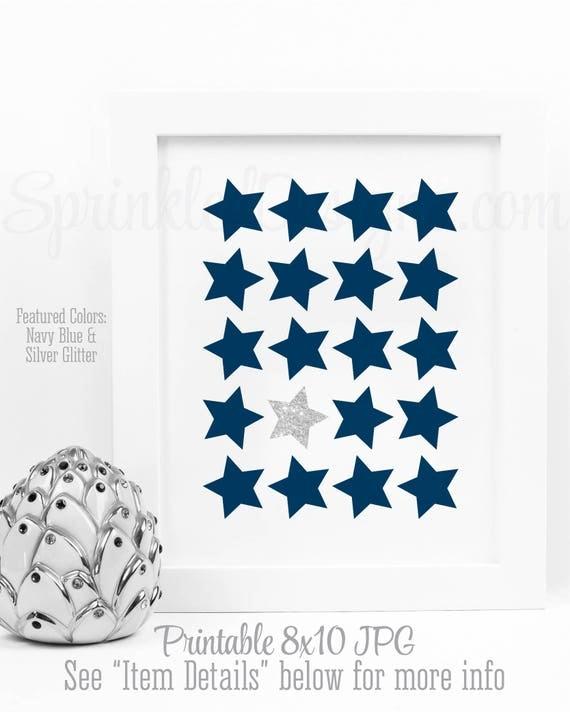 Twinkle Twinkle Little Star Wall Art, Stars Printable Nursery Art ...