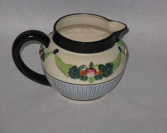 Vintage ceramic pitcher della hobbia maruhon ware made in Japan