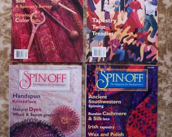 REDUCED - 1997 Full Set of Spin-Off Wool Magazine for Handspinners