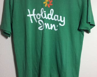 1980s Vintage Holiday Inn Very Rare T shirt Kelly Green Select t Size Large