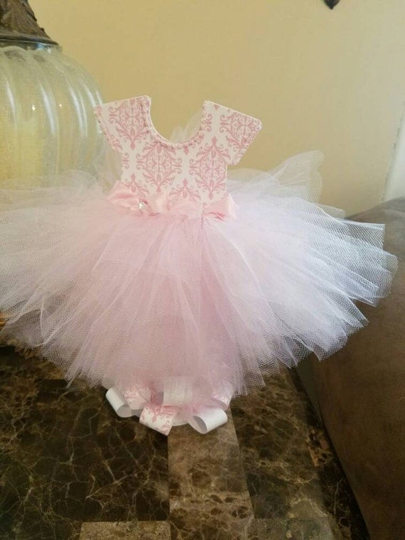 Double sided pink and white tutu centerpiece