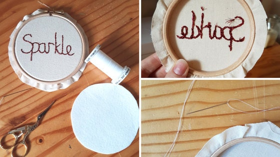 how to back an embroidery hoop in felt