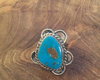 Vintage Mexican  turquoise sterling silver ring