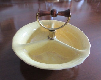 CALIFORNIA LANE MID Century Candy or Nut Dish with Handle