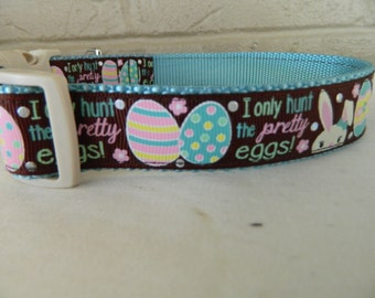 "Easter ""I Only Hunt the Pretty Eggs"" Dog Collar"