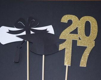 2017 Graduation Centerpiece Sticks, Graduation Party Centerpiece, Graduation Party, 2017 Graduation, Graduation Party Decor