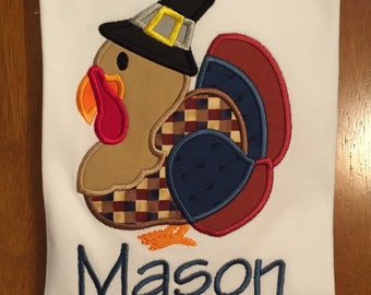 Pilgrim turkey Thanksgiving shirt or baby bodysuit