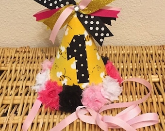 Bumble Bee Birthday Party Hat