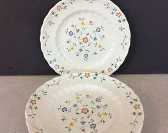 Set of 6 Vintage Metlox Floral Salad Dessert Plates