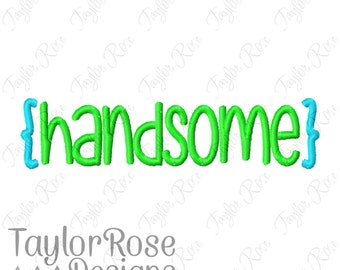Handsome Machine Embroidery Design 4x4 5x5 6x6 5x7 Brackets INSTANT DOWNLOAD