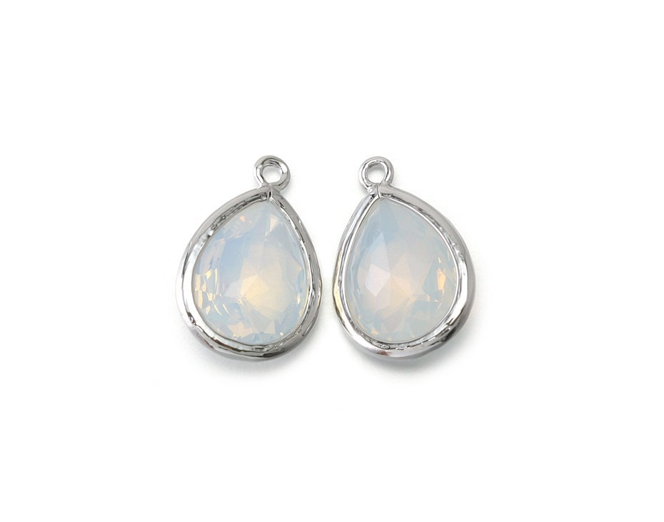 opal glass pendant jewelry craft supplies polished
