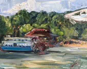 """Old Marina, Stone Mountain, oil on panel, 9"""" x 12"""""""