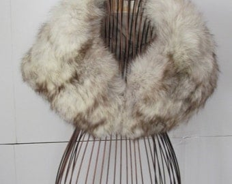 Exquisite Fur Stole for Wedding Silver Blue Fox Bolero Runway Couture Silver Fox Stole Hollywood Glam Fur Shrug Luxurious Fox Fur Stole SALE