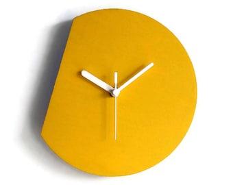 Laser cut wood wall clock modern,silent wall clock,minimal wall clock ...