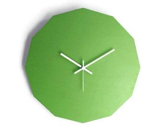 Laser cut wood dodecagonale clock,geometric clock,simple wall clock,geometric wall clock,dodecagonale wall clock,dodecagon clock,large clock