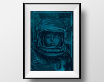 Cosmonaut - Limited Edition Screen Print