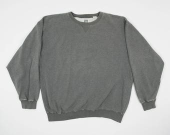 90s Gap Sweatshirt XL - Gray Crewneck Sweatshirt XL - Men's Extra Large - Vintage Gap Sweatshirt - Plain Gray Sweatshirt 1990s - Distressed