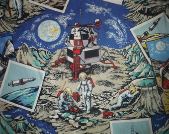 1970s curtains etsy for Outer space fabric panel