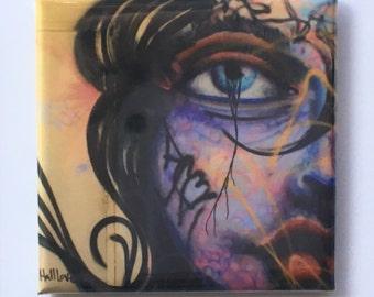 """Hera Magnet - 2""""x2"""", Original Photograph by EyeWatch Photo, Fine Art Photography, Urban Photography, Abandoned, Graffiti, Mix any 4!"""