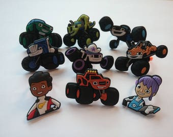 Blaze and the Monster Machines Rings Party Favor Cupcake Toppers