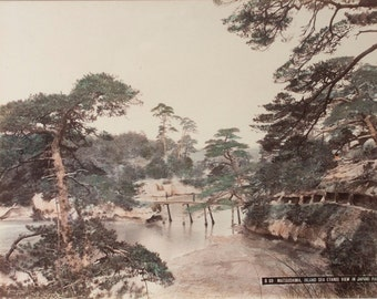 Matsushima, Inland Sea (Three View in Japan) Part 1 - Framed - FREE SHIPPING