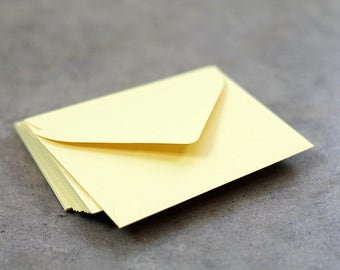 25 Mini Yellow Envelopes - 2.6875 x 3.6875 inches - Guest Book Envelopes - Mini Lemonade Yellow Envelopes