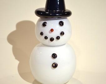 Snowman Hand Blown Glass