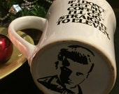 Stranger things mug, eleven, elle upside down, el on the bottom, upsidedown, morning brew mug