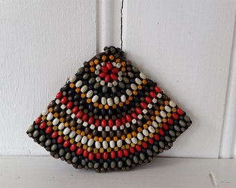 SALE! Slice of Summer • 1930s Czechosloviakian Wooden Beaded Wristlet