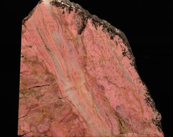 Gorgeous Satin-Polished Pink Rhodonite With Quartz Multi-Faced End Cut- P1204