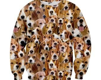 Beagle Sweater; Beagle dog sweater