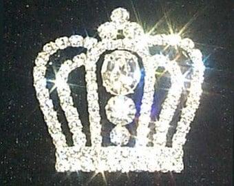 Style # 11898 Rhinestone Crown Pin