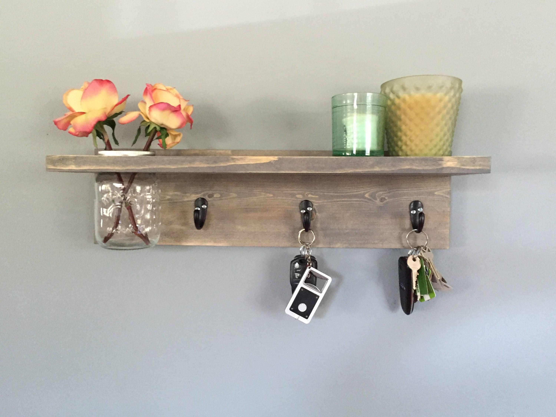 Key Holder Key Hookwall Shelf Wall Coat Rack With Shelf