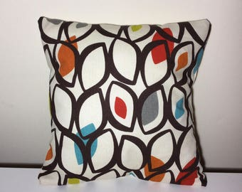 Cushion Cover Pillow Cover Geometric Design 16 Inch Handmade Cotton PIllow Beige Brown