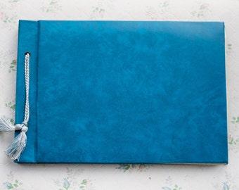 Blue Photo Album - Vintage Large Scrapbooking Book