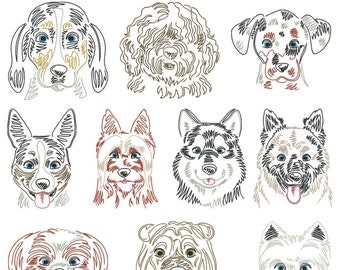 Dog breeds part 4 for the frame 10x10cm