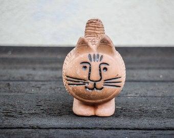 Vintage Lisa Larson style Terracotta Cat Planter / Chia Pet Modern Design Planter