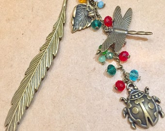 Antique Bronze Insect bookmark