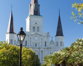St. Louis Cathedral Basilica New Orleans LA NOLA French Quarter Church Architecture Fine Art Photo Print by Rose Clearfield on Etsy