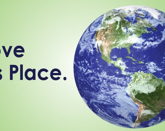 Bumper Sticker: I Love This Place. - Earth