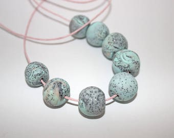 Lokahi Bead Necklace mint rose